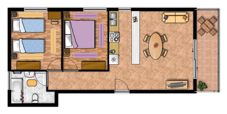 Appartamento m1 appartamenti m i vodice alloggi for Arredare appartamento di 100 mq